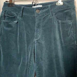 LOFT teal corduroy curvy skinny pants size 4
